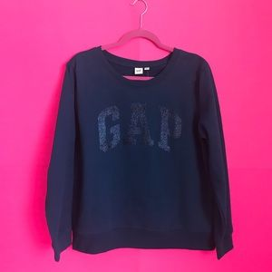 GAP Glitter Logo Crewneck Sweater